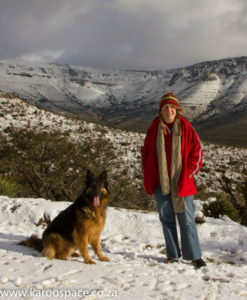 With TwoPack in the snowy Swaershoek mountains.