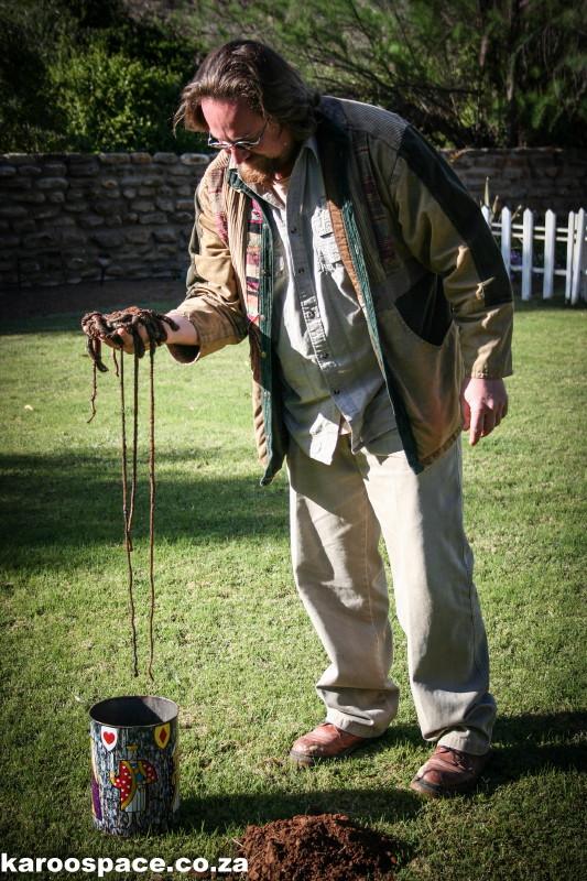 Giant earthworms, Karoo