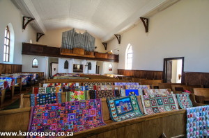 Exquisite quilts were on display in local churches.