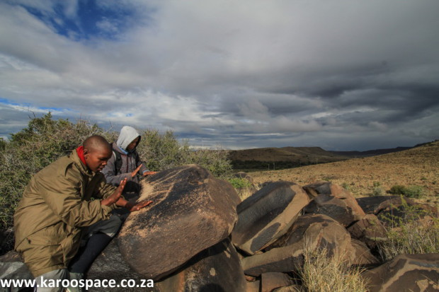 Dolerite rock gongs, Nelspoort, Karoo