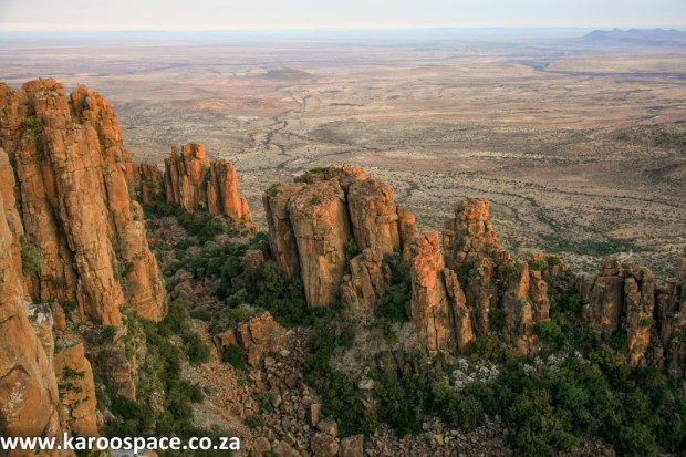 Dolerite pillars, Valley of Desolation near Graaff-Reinet, Karoo