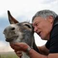 Prof Van Tonder loved the donkeys his wife Fransie gave him.