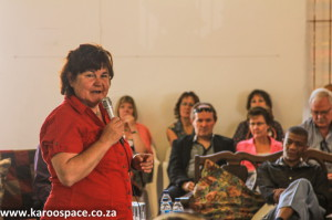 Karoo Development Foundation co-founder Professor Doreen Atkinson at the Karoo Parliament.