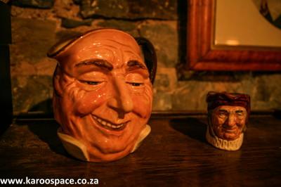toby jugs, matjiesfontein