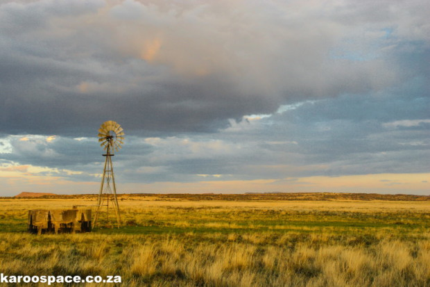 Southern Free State Karoo in the beautiful light at the end of a summer's day.