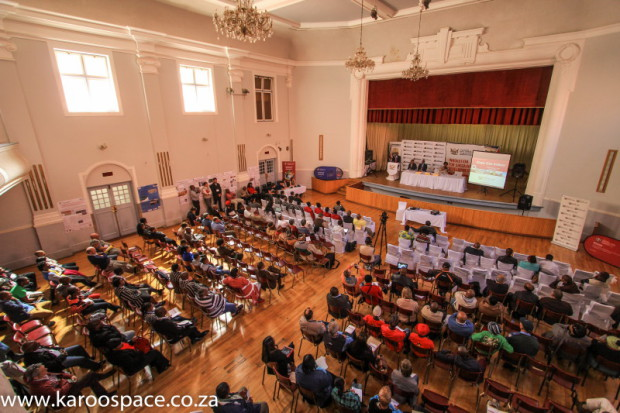 The Graaff-Reinet town hall was full of hopeful stakeholders. Alas for them.