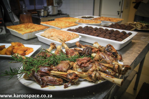 Heyla's world - Karoo food being prepared in the Victoria Manor kitchen.