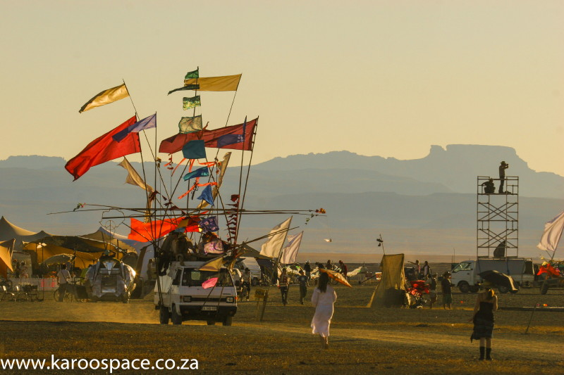 AfrikaBurn setting in the Tankwa Desert of the Northern Cape.