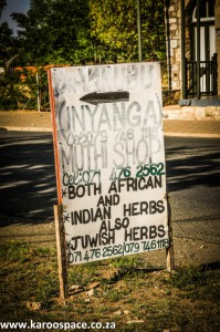 Herbalist shop sign, South Africa