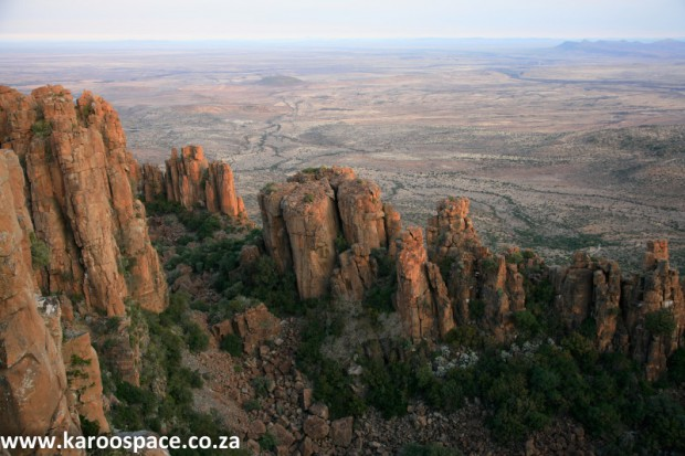 Dolerite pillars, Valley of Desolation, Karoo