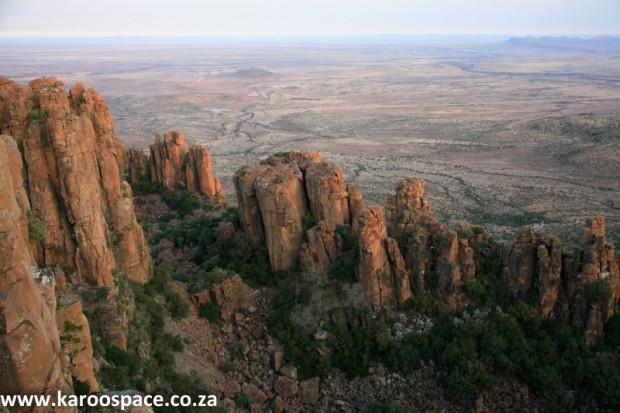 Dolerite pillars, Valley of Desolation, Karoo