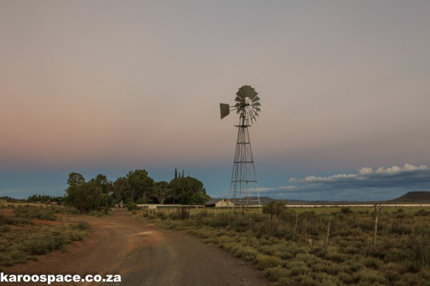 Farm and windpump, Karoo