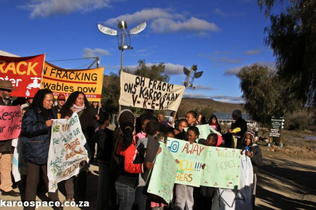 Fracking protest, Nieu Bethesda