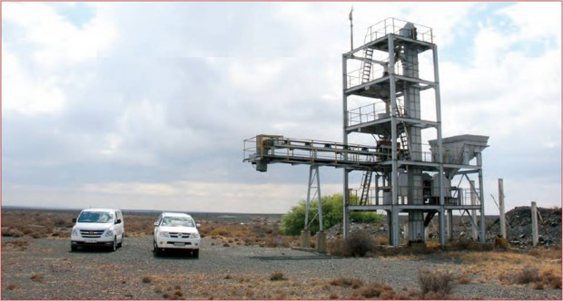 Peninsula Energy's mining installation at Ryst Kuil near Beaufort West.