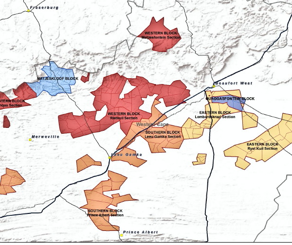 A part of Tasman RSA Mines' uranium concessions in the Karoo.