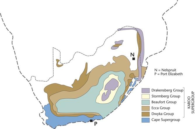 Karoo supergroup map