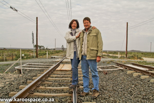 Enid and Kurt Krog of Kalkbult farm, where South Africa's first solar energy plant found a home.