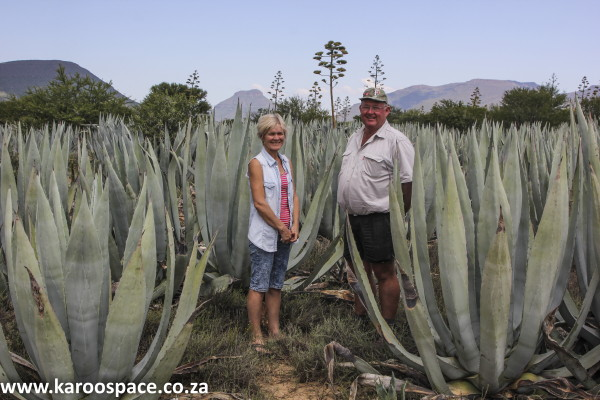 Lisa and Tim Murray of Roode Bloem farm, near Graaff-Reinet.