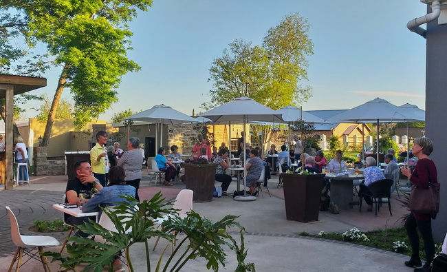 Country socialising at the Duke of Bedford Hotel, Bedford village, Eastern Cape.