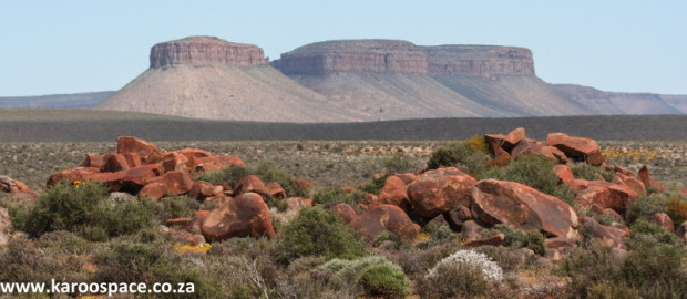Dolerite-topped hills of the Karoo