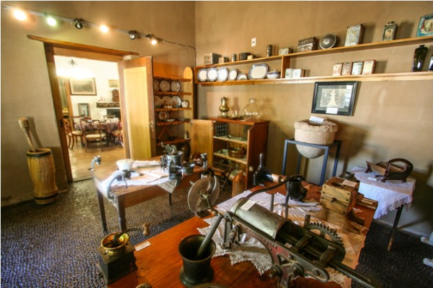 Urquhart House Museum in Graaff-Reinet has a kitchen with a peach pip floor.