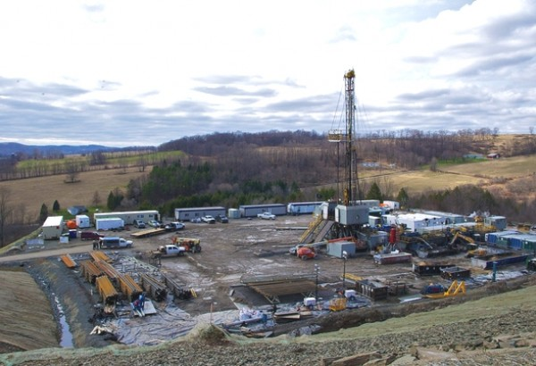 A small frack pad in America. Picture courtesy Jonathan Deal.