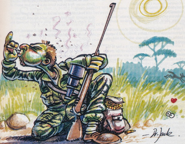 The fine art of hunting varmints. Cartoon by Dr Jack.