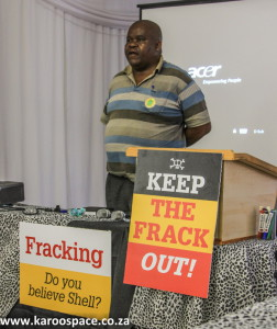 Phumelelo Booysen of the SCLC voiced his worry at how racism had been purposely brought in to divide anti-frackers.