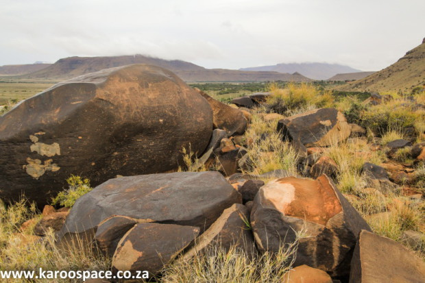 The Karoo is riddled with dolerite, also known as ironstone - a big problem for frackers.