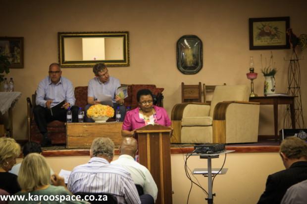 Inxuba Yethemba Municipality Executive Mayor Nyameka Goniwe welcomed delegates.