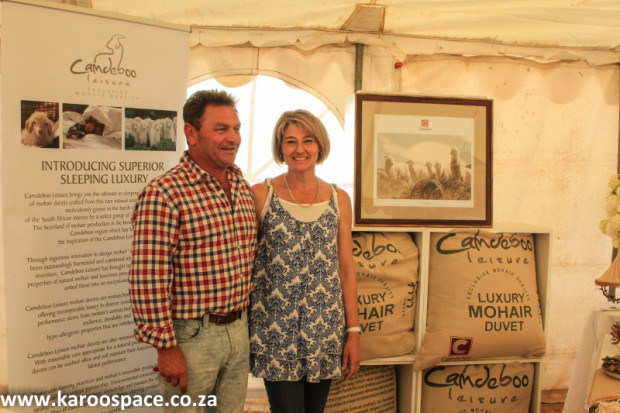 Paul and Karen Michau of Camdeboo Mohair attracted plenty of attention at the Karoo Expo.