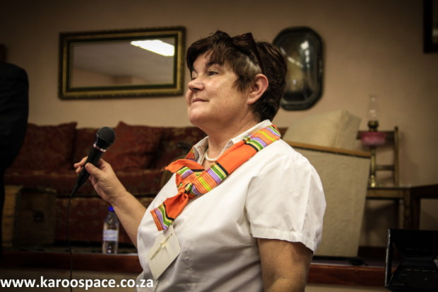 Professor Doreen Atkinson chaired the second sitting of the Karoo Parliament.