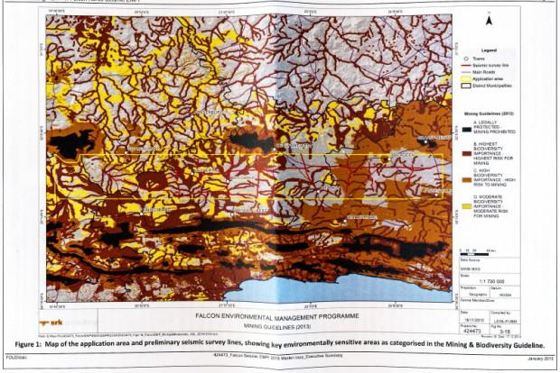 Falcon Oil and Gas, Karoo Basin exploration area