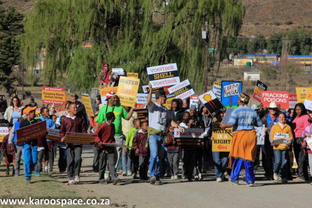 Fracking protest, Nieu Bethesda, Karoo