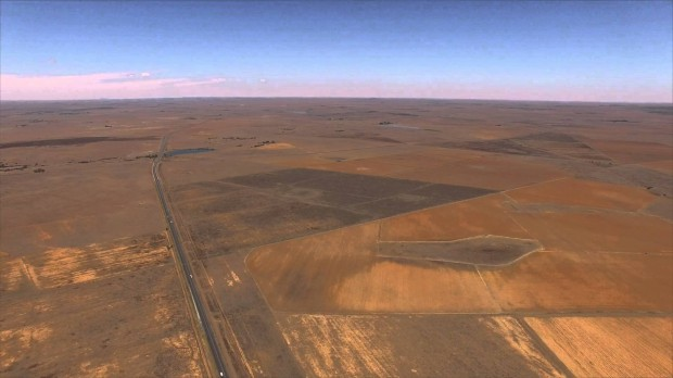 An image taken from a drone near Verkeerdevlei toll gate in the Free State.