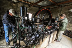 The incredible stationary machine, originally from Cango Caves, now near Aberdeen.