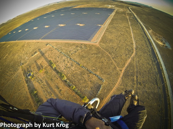 Kurt Krog went up regularly to record the progress of the solar farm.