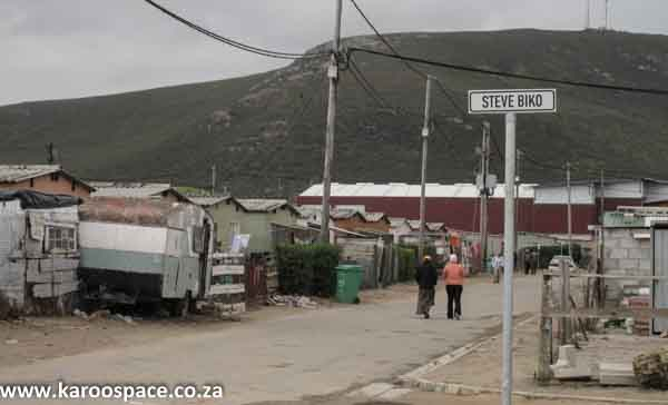 No room to play for children in Zwelihle and many other townships around the country.