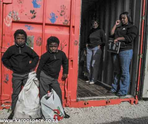 The Recycle Swop Shop in Gansbaai started in a shipping container.
