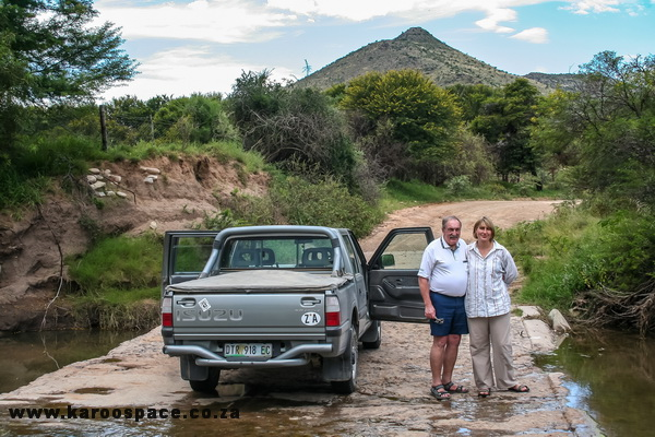 My father PS du Toit (Pierre) and I, back in 2009, on the way to Palingkloof between Cradock and Tarkastad.