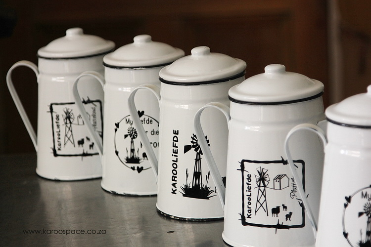 Part of Gentlecare's funds come from the sale of branded enamelware, sold at certain padstalle.